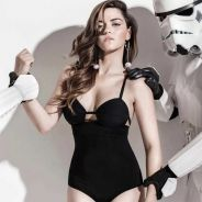 """Maite Perroni, ex-RBD, posa sensual e aparece ao lado de personagens de """"Star Wars"""""""