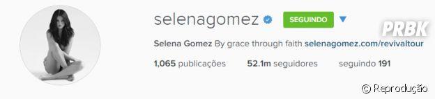 Selena Gomez bate recordes de seguidores nas redes sociais