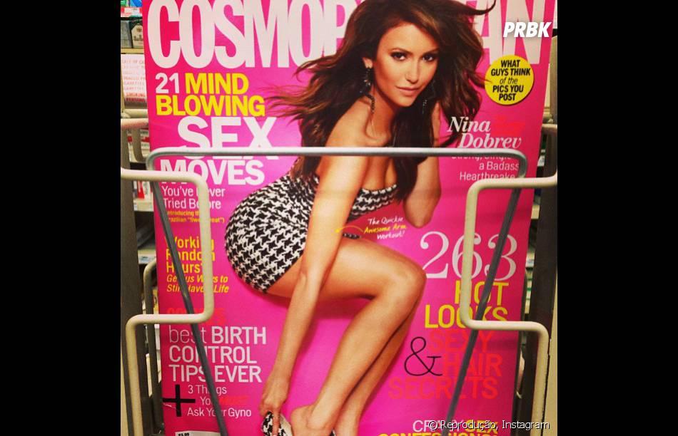 Ian Somerhalder mostra que é fã da ex Nina Dobrev ao postar uma foto dela em uma capa de revista!