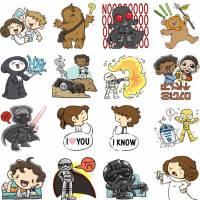 """De """"Star Wars VII"""": stickers do filme chegam ao Facebook em coleção super fofa de emojis!"""