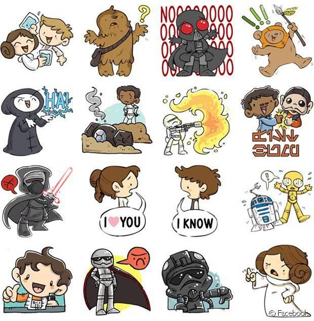 """De """"Star Wars VII"""": Stickers Do Filme Chegam Ao Facebook"""