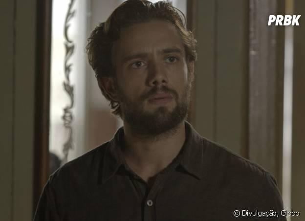 """Novela """"Além do Tempo"""": Felipe (Rafael Cardoso) fica revoltado ao saber que Melissa (Paolla Oliveira) não está mais grávida!"""