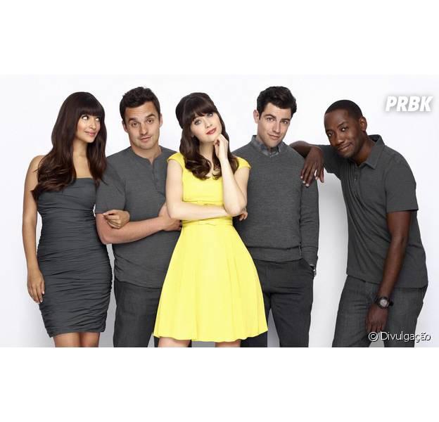 """Em """"New Girl"""", Jess (Zooey Deschanel) toma atitude em casamento de Cece e Schmidt e vive novo relacionamento!"""