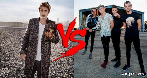 Hashtag incentiva rivalidade entre fãs de Justin Bieber e One Direction no Twitter