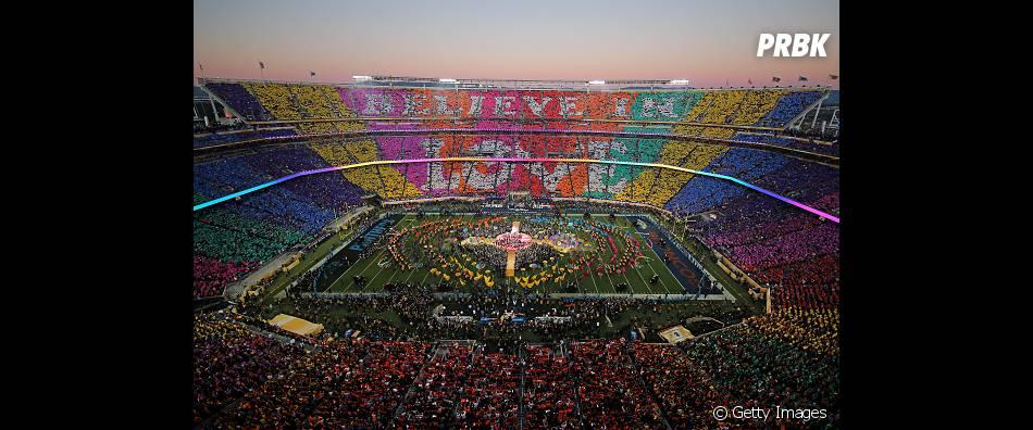 O show do intervalo contou também com um mosaico incrível!