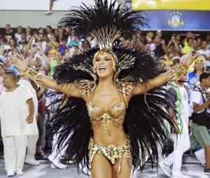 Claudia Leitte ficou dois anos à frente da bateria da Mocidade Independente de Padre Miguel