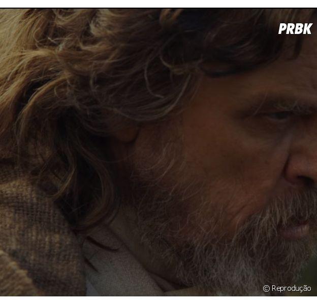 "Luke Skywalker (Mark Hamill) encontra Rey (Daisy Ridley) em primeiro teaser de ""Star Wars: Episódio VIII"""
