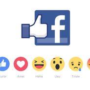 Facebook libera novo botão like com 5 novas reações no Brasil!