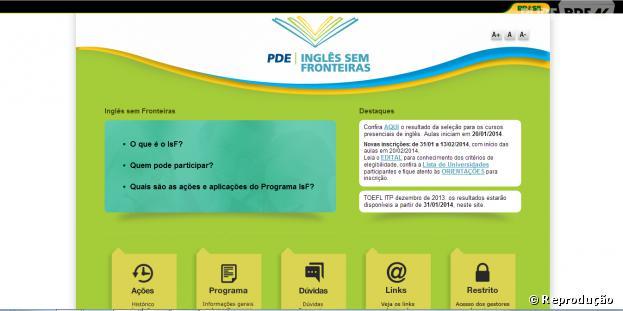 """Inscrições para o """"Inglês Sem Fronteiras"""" começam nesta sexta-feira, dia 31 de janeiro de 2014"""