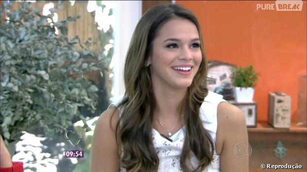 """Bruna Marquezine comentou sobre o namoro com o jogador Neymar, durante o programa """"Mais Você"""", desta segunda-feira, 3 de fevereiro de 2014"""