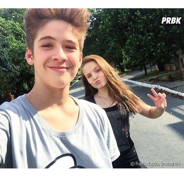 João Guilherme publica foto da namorada Larissa Manuela e se declara no Instagram