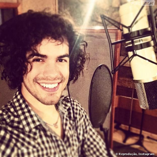 Sam Alves em estúdio gravando seu novo CD