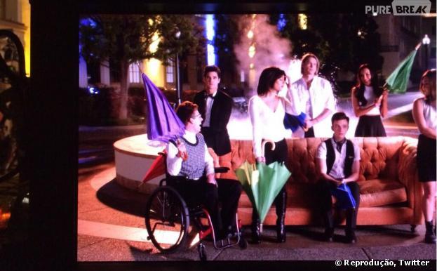 """Glee"" vai recriar a famosa abertura de ""Friends""!"