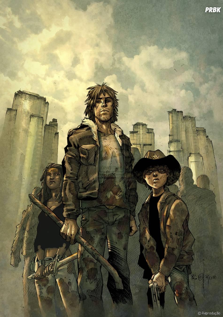 Os personagens da série foram retratados quase sempre armados e prontos para se defenderem de qualquer ameaça zumbi