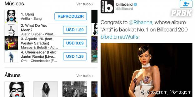 Anitta e Rihanna tiram a maior onda nas paradas musicais