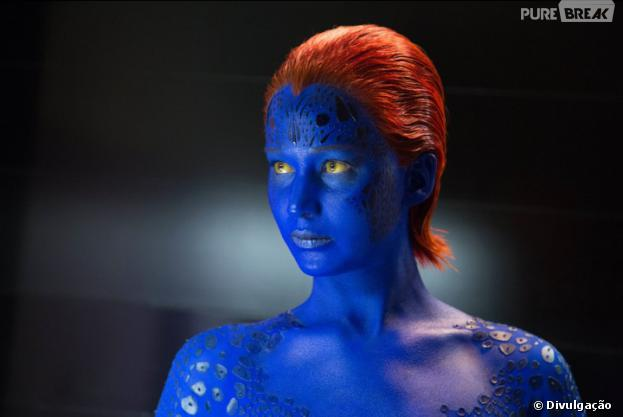 """Jennifer Lawrence aparece como a personagem Mística no filme""""X-Men: Dias de um Futuro Esquecido"""""""