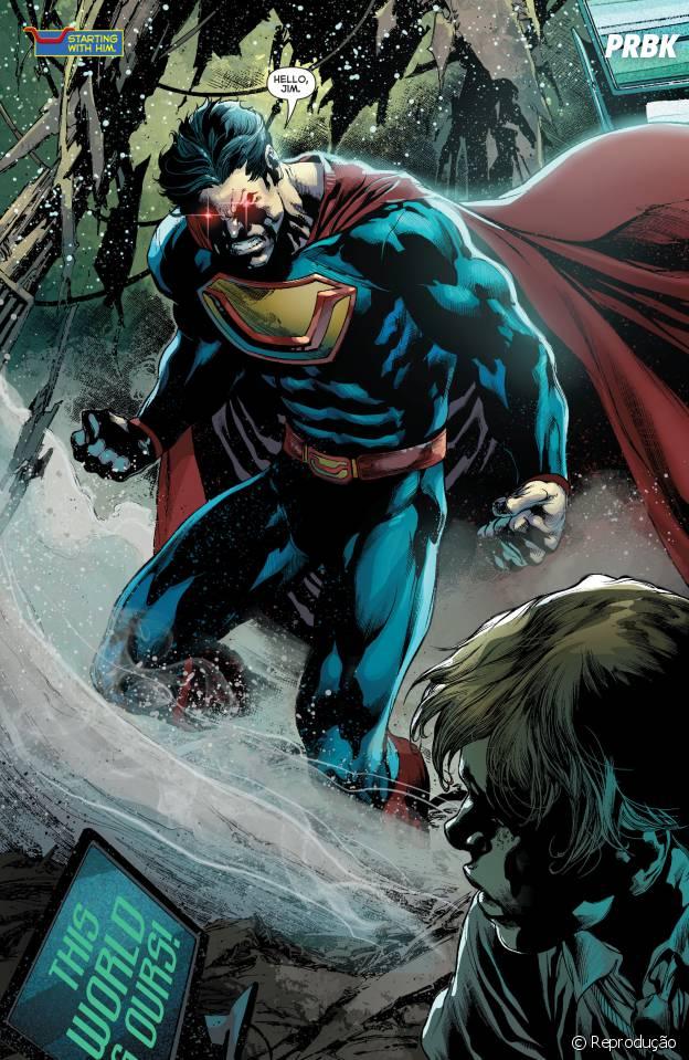 Superman Ultraman é a versão da Terra 3 do Homem de Aço, onde ele na verdade é um vilão