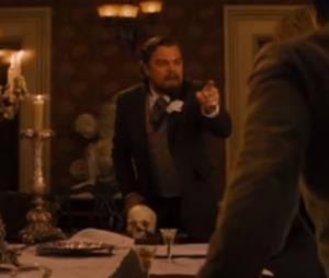 """Mesmo sangrando, Leonardo DiCaprio continuou com esta cena icônica de """"Django Livre"""""""