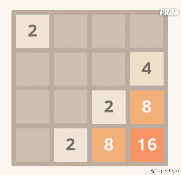 """O jogo """"2048"""" promete horas e horas de vício na frente do computador"""