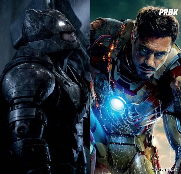 Batman (Ben Affleck) e Homem de Ferro (Robert Downey Jr.) são mais parecidos do que você imagina!