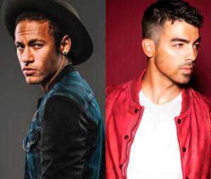 Neymar Jr, do Barcelona, e Joe Jonas, da banda DNCE, curtem balada juntos!