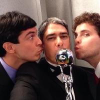 """Ivete Sangalo e Mateus Solano fazem """"selfies"""" e fotos de bastidores em premiação"""