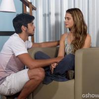 """Em """"Além do Horizonte"""": Marlon põe Lili contra parede: """"Você me ama ou não?"""""""