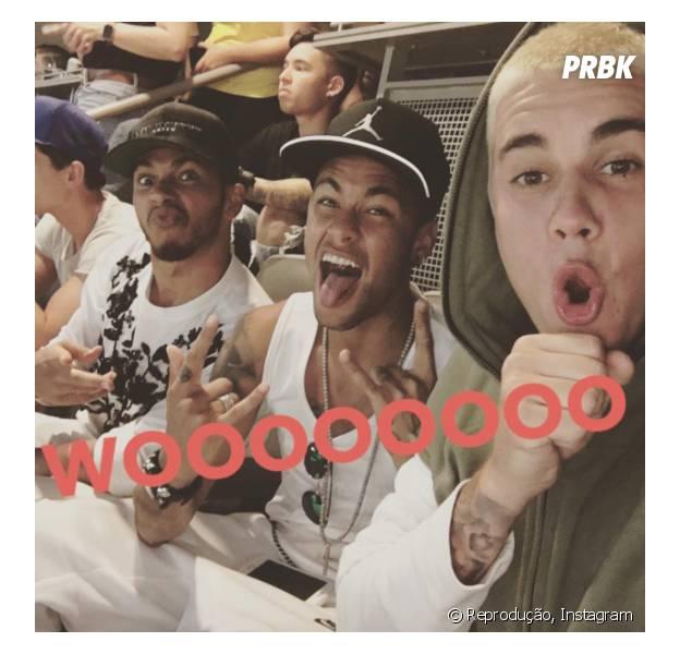 Neymar e Justin Bieber curtiram juntos durante a passagem do jogador pelos EUA