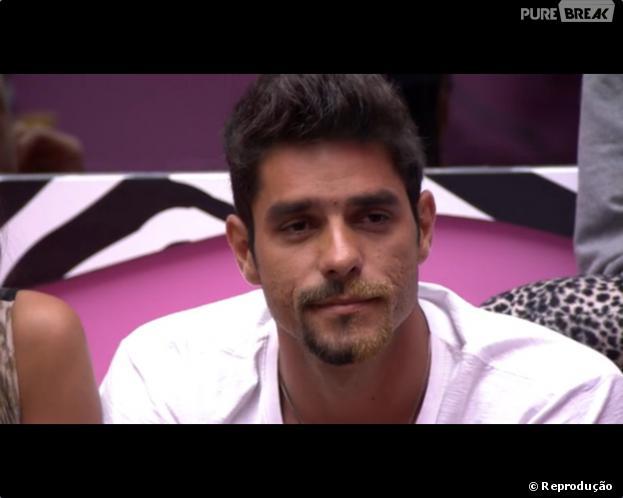 """Diego foi eliminado com 61% dos votos e deixa o """"BBB14"""", na noite desta terça-feira, 18 de março de 2014"""