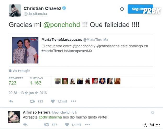 Alfonso Herrar e Christian Chávez se encontram no último final de semana
