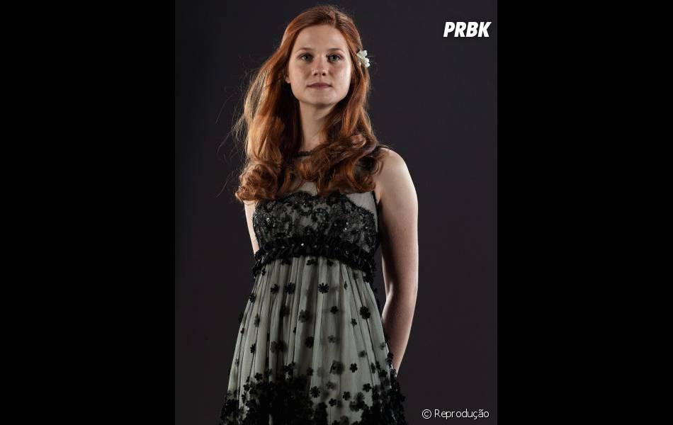 Bonnie Wright ficou conhecida por interpretar a irmã de Rony Weasley, melhor amigo de Harry Potter