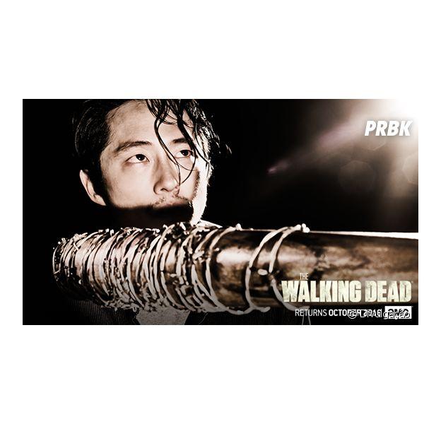 """De """"The Walking Dead"""", Glenn (Steven Yeun) e outras possíveis vítimas aparecem em novos cartazes"""