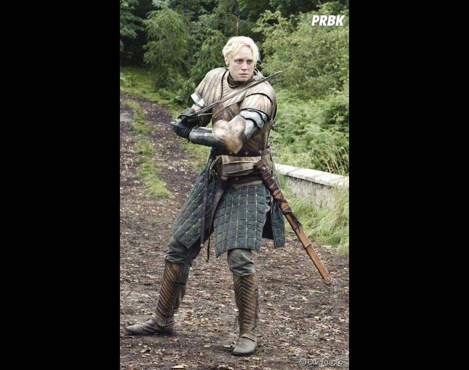 "Brienne of Tarth é uma guerreira barra pesada na série ""Game Of Thrones"""
