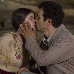"""Novela """"Êta Mundo Bom!"""": Mafalda (Camila Queiroz) e Zé dos Porcos se beijam e são flagrados!"""