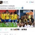 Os times masculino e femino de futebol brasileiro são alvo de comparações durante as Olimpíadas Rio 2016