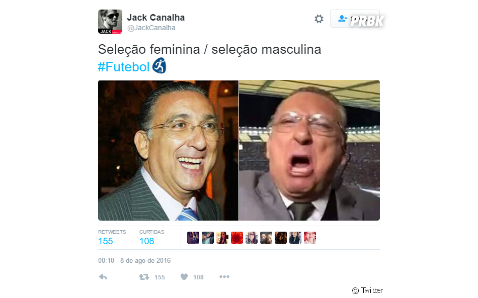 Até Galvão Bueno foi usado para zoar a Seleção masculina de futebol nas Olimpíadas Rio 2016
