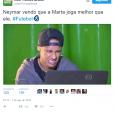 Será que essa é a cara feita por Neymar ao ver Marta arrasando nas Olimpíadas Rio 2016?