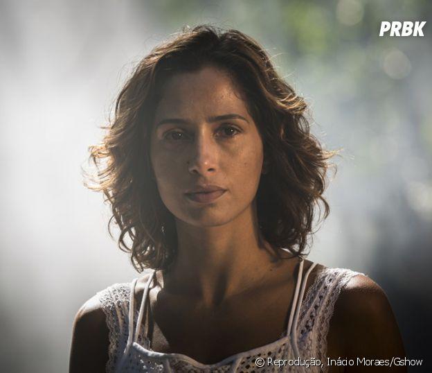 """De """"Velho Chico"""": Tereza (Camila Pitanga) vai tentar colocar Carlos Eduardo (Marcelo Serrado) na cadeia, após descobrir que foi ele quem atirou em Santo (Domingos Montagner)"""