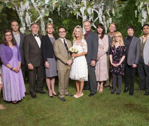 Agora a cerimônia de casamento de Penny(Kaley Cuoco) eLeonard(Johnny Galecki) vai ter todos os familiares e amigos juntos