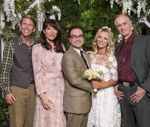 """Penny(Kaley Cuoco) eLeonard(Johnny Galecki) resolveram renovar os votos de casamento em""""The Big Bang Theory"""""""
