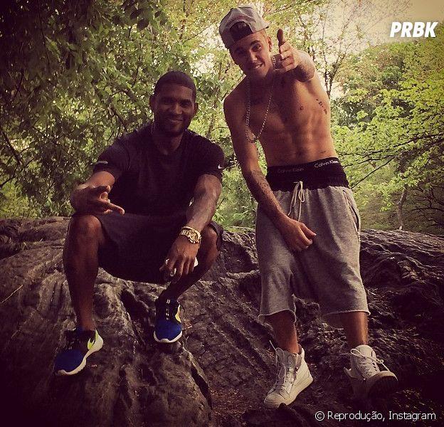 Justin Bieber apoia Usher em lançamento de música nova e faz declaração emocionante no Twitter