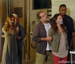 """LC (Antônio Calloni) capturará Tereza (Carolina Ferraz) e Paulinha (Christiana Ubach) em """"Além do Horizonte"""""""
