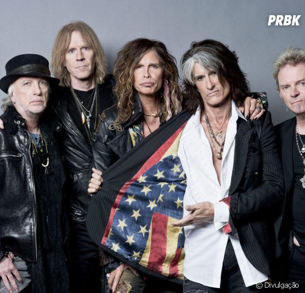 Aerosmith, banda comandada por Steven Tyler, vem ao Brasil em 2017 para o Rock in Rio