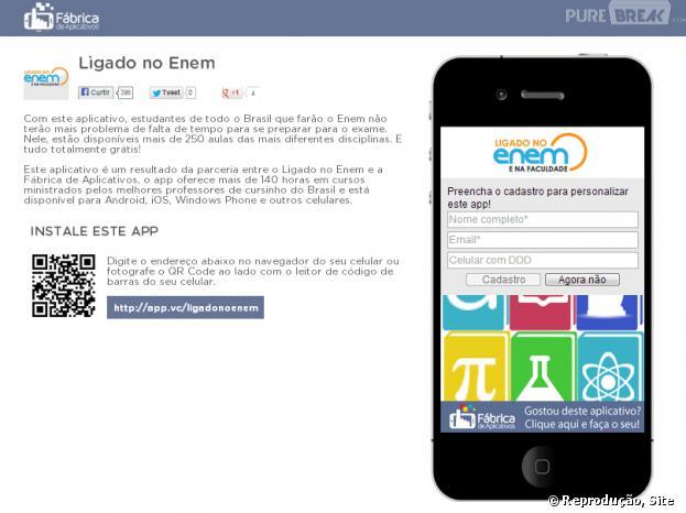 App criado pela Fábrica do de Aplicativos traz mais de 140 horas de aulas para o Enem 2013