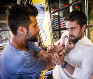 """Em """"Sol Nascente"""", Mario (Bruno Gagliasso) acusa César (Rafael Cardoso) após explosão que levou Alice (Giovanna Antonelli) para o hospital!"""