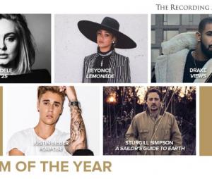 Justin Bieber, Adele e Beyoncé são indicados em uma das principais categorias do Grammy Awards 2017