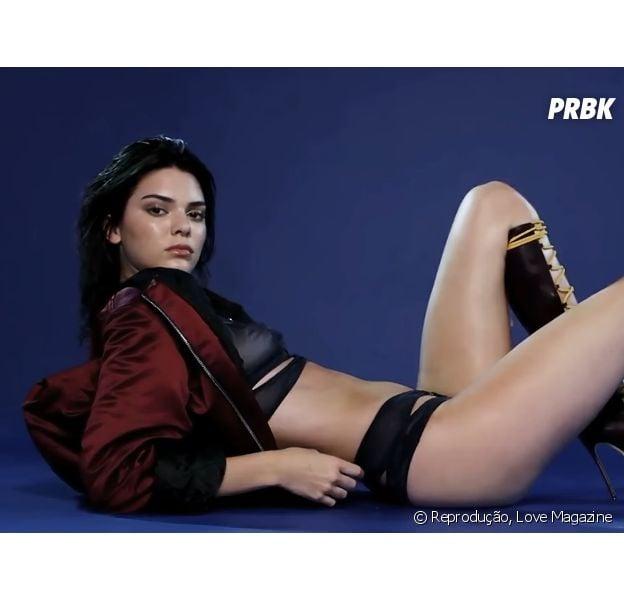 Kendall Jenner posa com lingerie sexy para a Love Magazine