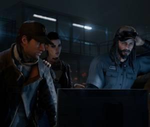 """O personagem principal de """"Watch Dogs"""", Aiden, entrando em contato com sua rede de hackers"""