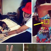 Neymar faz a tatuagem de uma cruz igual a de Bruna Marquezine! Veja a foto!