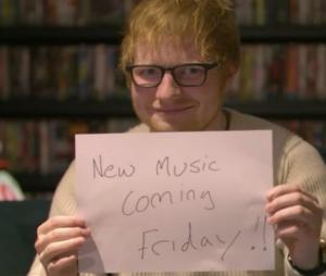 Ed Sheeran anuncia música nova através de vídeo fofo e fãs piram
